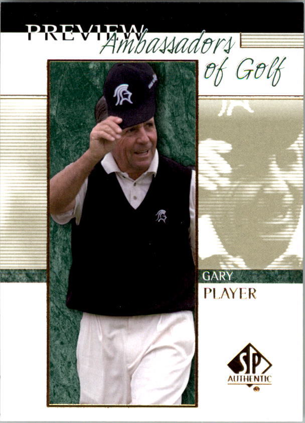 2001 SP Authentic Preview #58 Gary Player AG