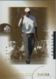 2001 SP Authentic Preview Gold #21 Tiger Woods STAR