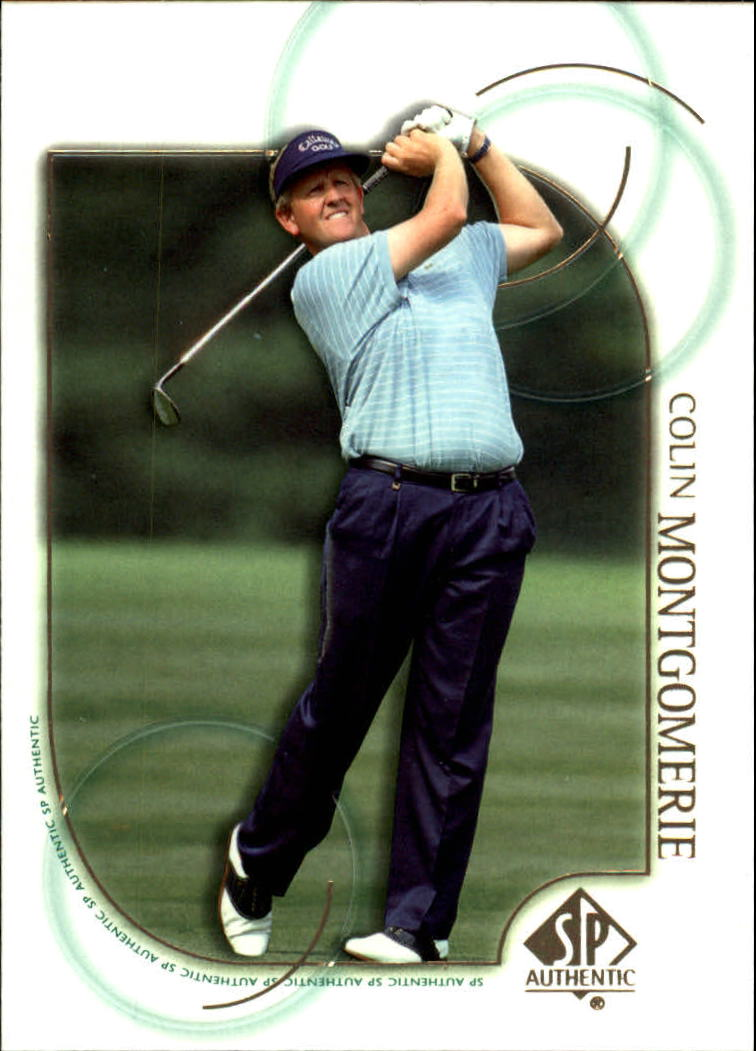 2001 SP Authentic #9 Colin Montgomerie