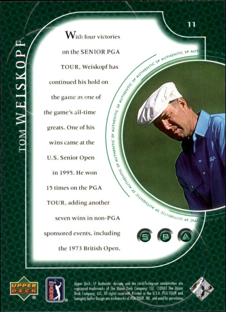 2001 SP Authentic #11 Tom Weiskopf back image