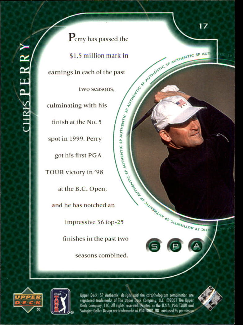 2001 SP Authentic #17 Chris Perry back image