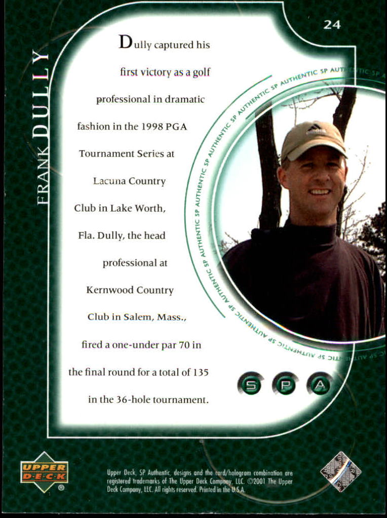2001 SP Authentic #24 Frank Dully RC back image