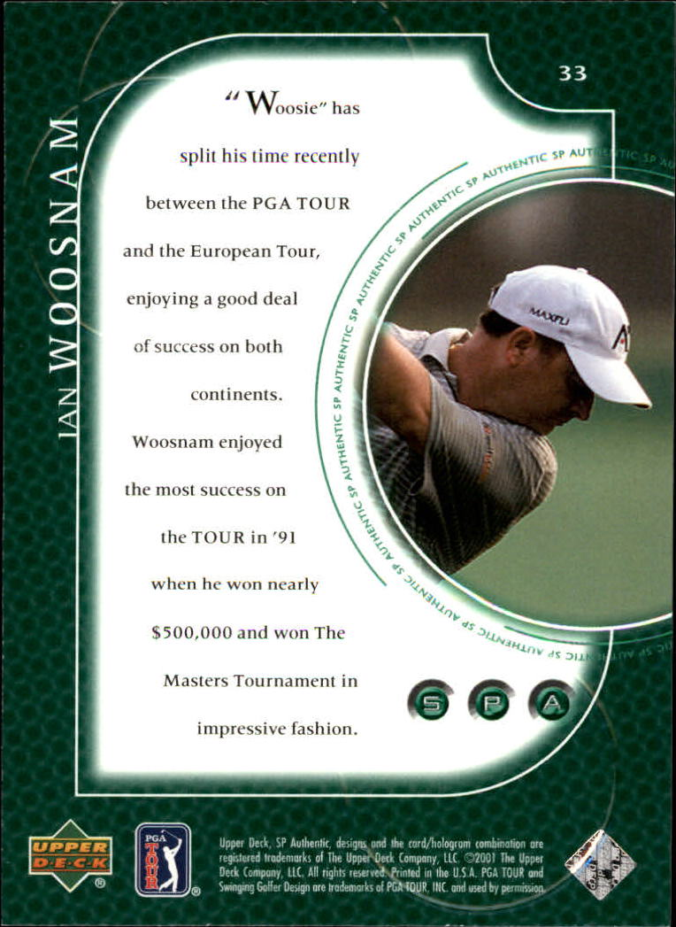 2001 SP Authentic #33 Ian Woosnam back image