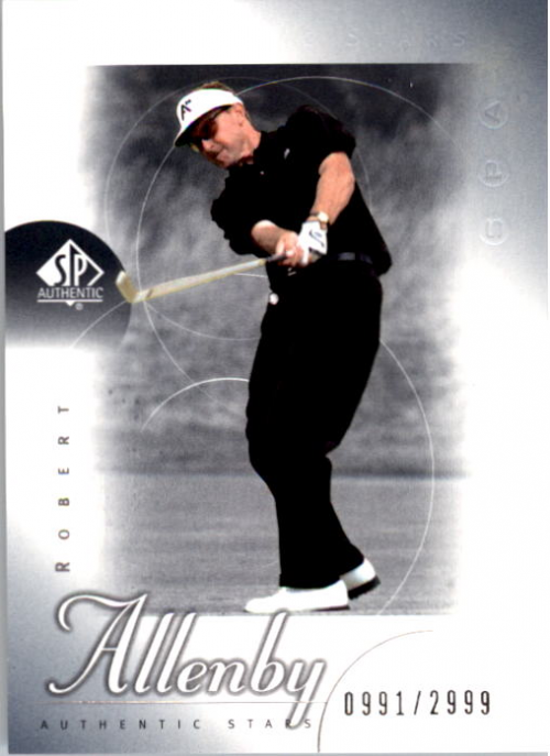 2001 SP Authentic #57 Robert Allenby AS RC