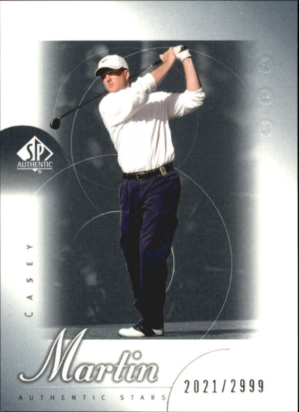 2001 SP Authentic #59 Casey Martin AS RC