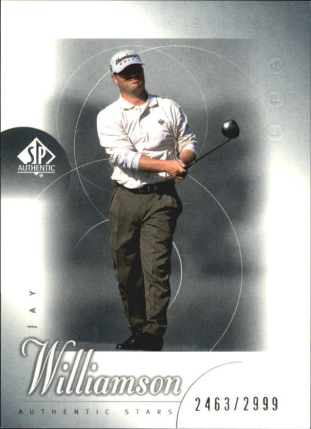 2001 SP Authentic #60 Jay Williamson AS RC