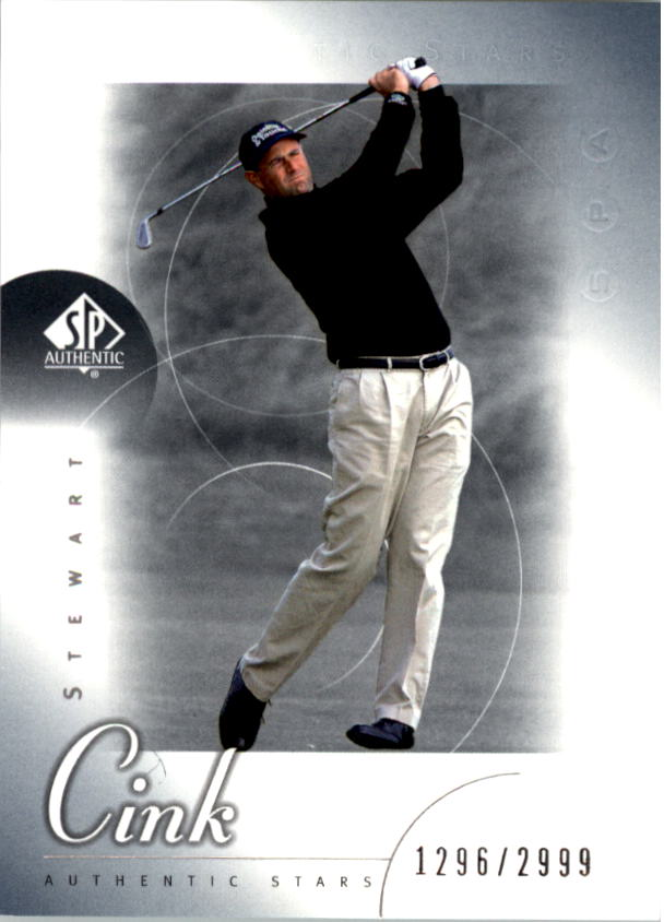 2001 SP Authentic #65 Stewart Cink AS RC