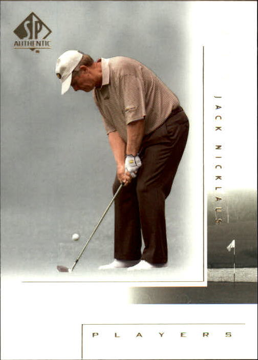 2001 SP Authentic #117 Jack Nicklaus MP