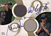 2002 SP Game Used Front 9 Fabric Doubles Autograph #WL Mike Weir/Ian Leggatt