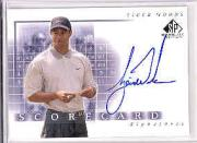 2002 SP Game Used Scorecard Signatures #SSTW Tiger Woods