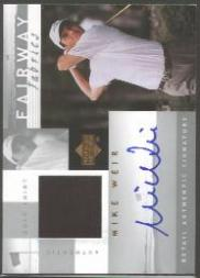 2002 Upper Deck Fairway Fabrics Signatures Silver #MWAFF Mike Weir