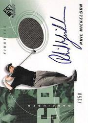 2002 SP Game Used #80 Phil Mickelson AU Jsy T3 RC