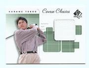 2002 SP Authentic Course Classics Game-Used Shirt Cards #CCKY Kaname Yokoo
