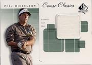 2002 SP Authentic Course Classics Game-Used Shirt Cards #CCPM Phil Mickelson