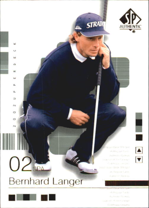 2002 SP Authentic #13 Bernhard Langer