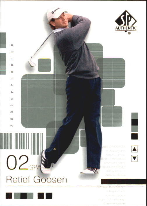 2002 SP Authentic #25 Retief Goosen