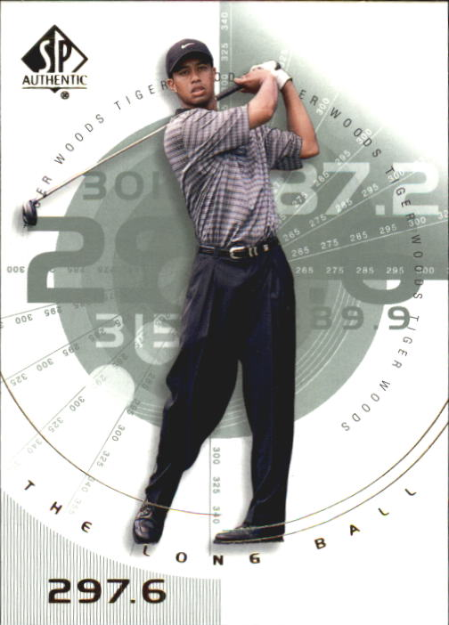 2002 SP Authentic #76 Tiger Woods LB