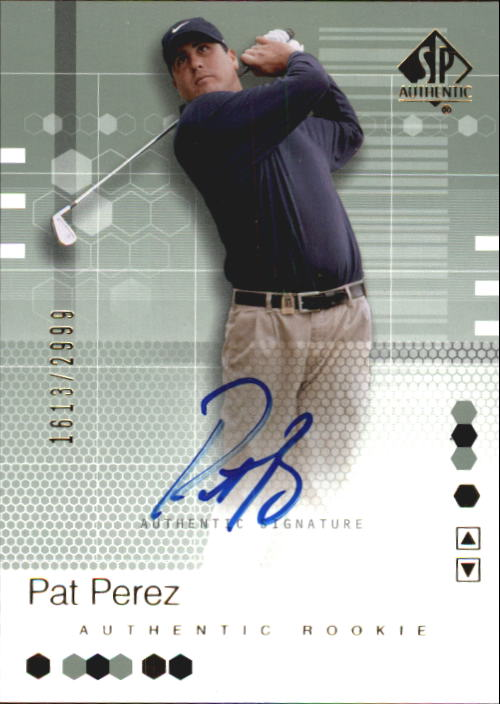 2002 SP Authentic #98 Pat Perez AU RC