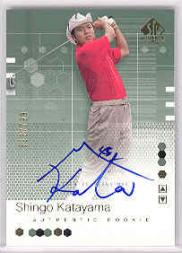 2002 SP Authentic #112 Shingo Katayama AU RC