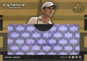 2003 SP Game Used Signature Swings Gold 2 #MW3 Mike Weir