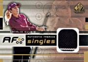 2003 SP Game Used Authentic Fabrics Singles #NG Natalie Gulbis SP