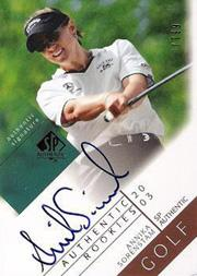 2003 SP Authentic #110 Annika Sorenstam AU/799 RC