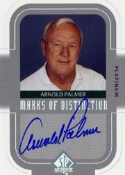 2003 SP Authentic Marks of Distinction Platinum #JN Jack Nicklaus