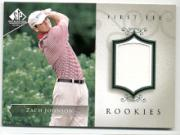 2004 SP Signature #48 Zach Johnson Shirt RC