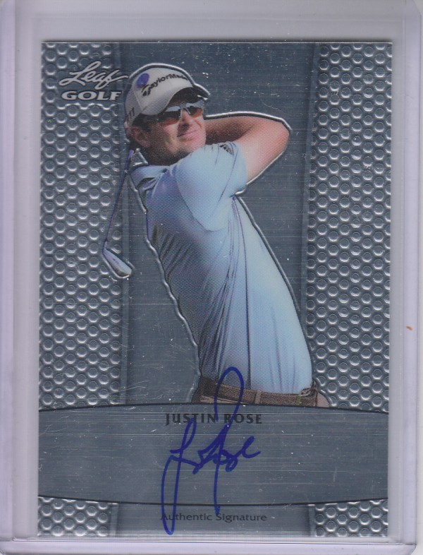 2011 Leaf Golf Metal Autographs #BAJR1 Justin Rose