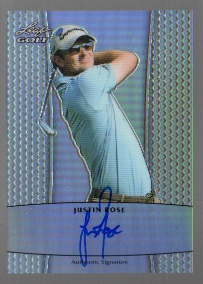 2011 Leaf Golf Metal Autographs Prismatic #BAJR1 Justin Rose/99