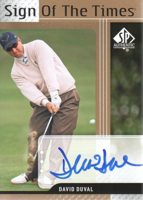 2012 SP Authentic Sign of the Times #STDD David Duval D