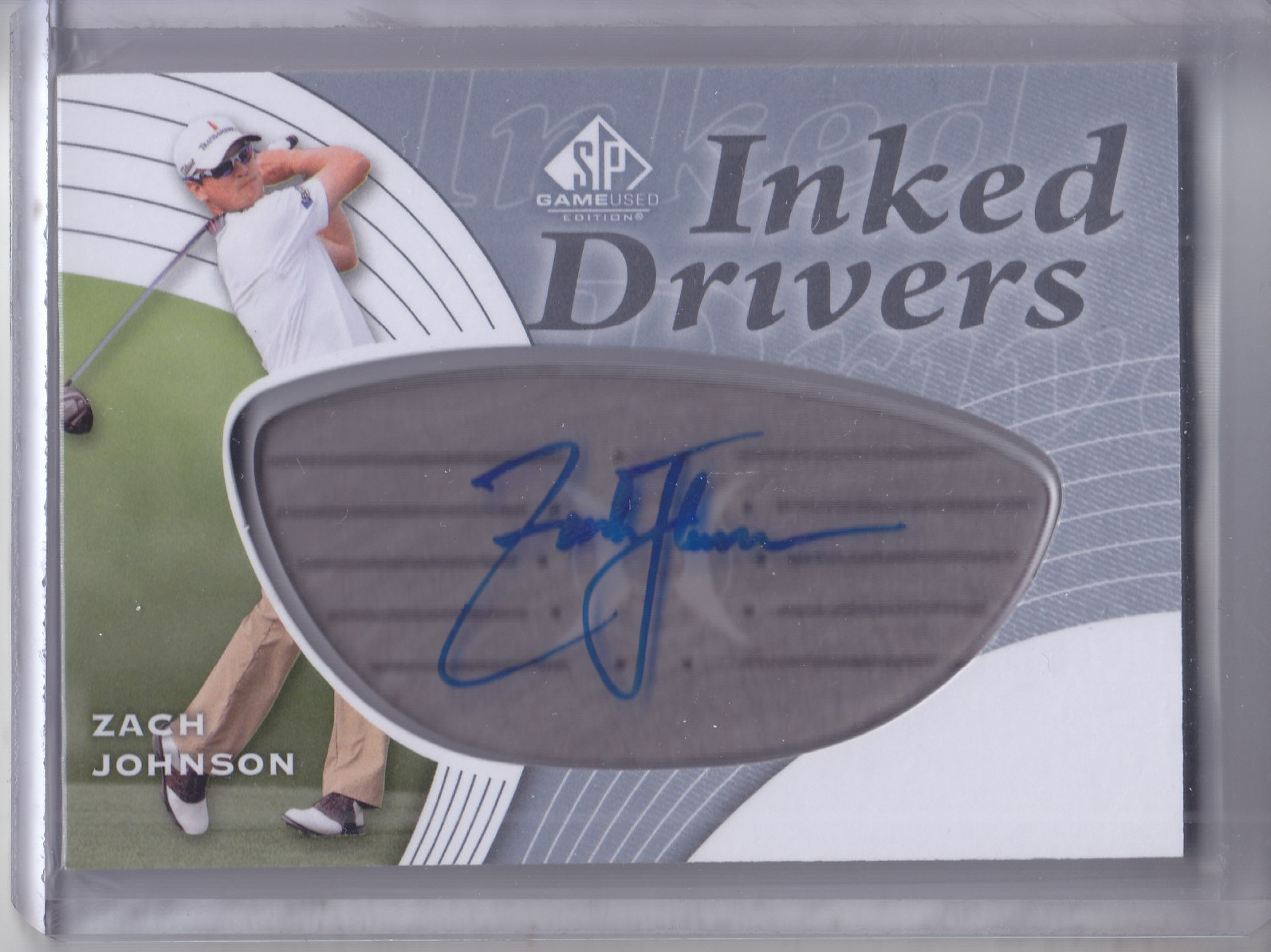 2012 SP Game Used Inked Drivers Silver #IDZJ Zach Johnson D