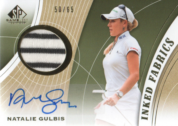 2012 SP Game Used Inked Fabrics #IFNG Natalie Gulbis/65