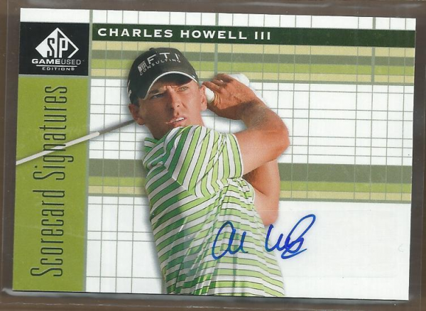2012 SP Game Used Scorecard Signatures #SSHO Charles Howell III C