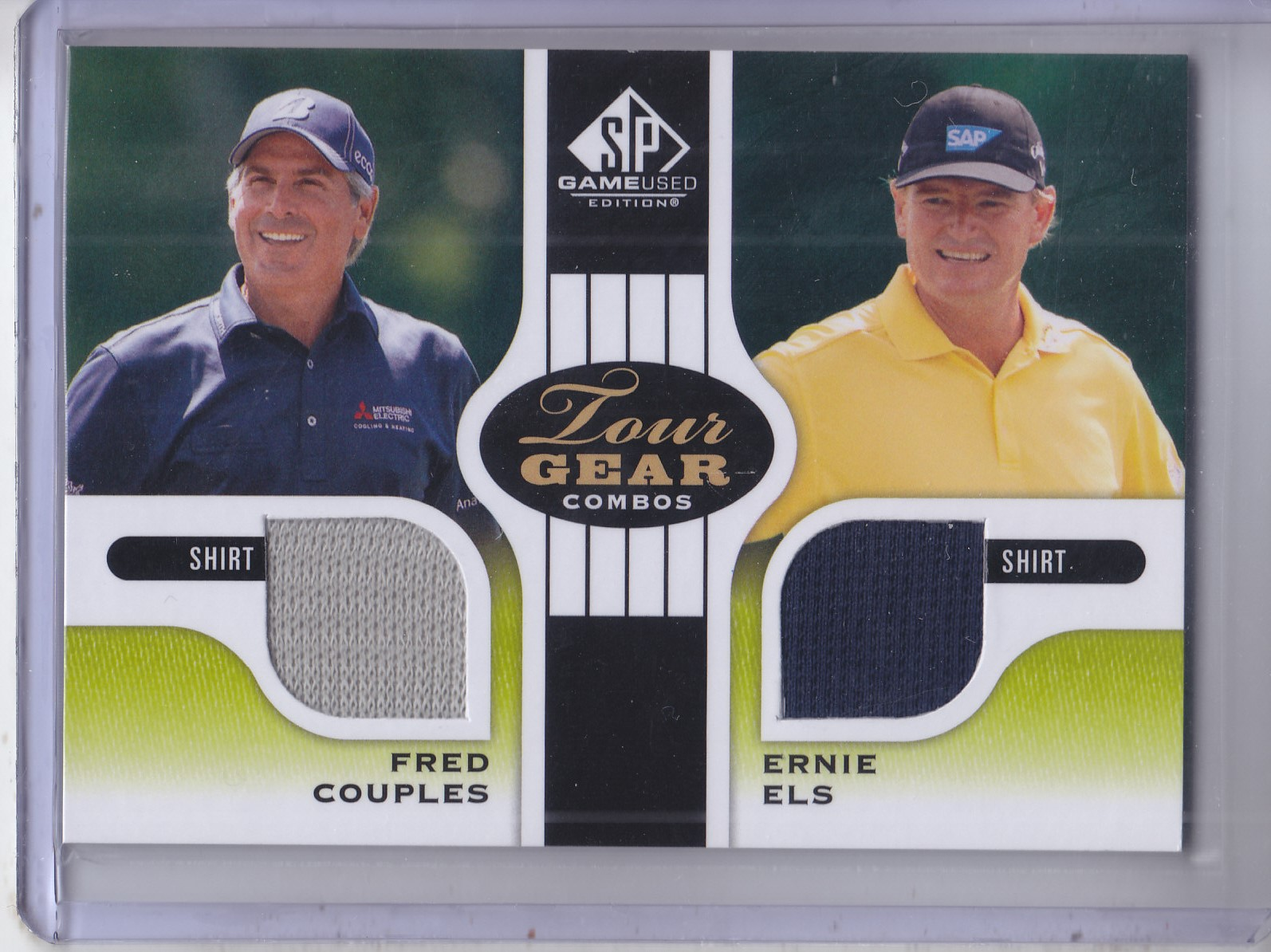 2012 SP Game Used Tour Gear Dual #TG2CE Fred Couples/ Ernie Els B