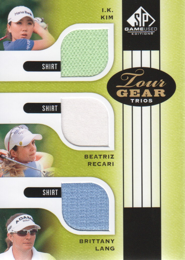 2012 SP Game Used Tour Gear Triple #TG3KRL I.K. Kim/ Beatriz Recari/ Brittany Lang C