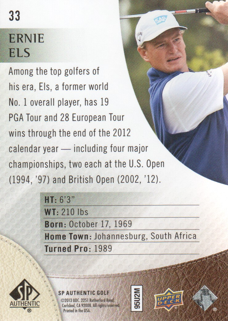 2014 SP Authentic #33 Ernie Els