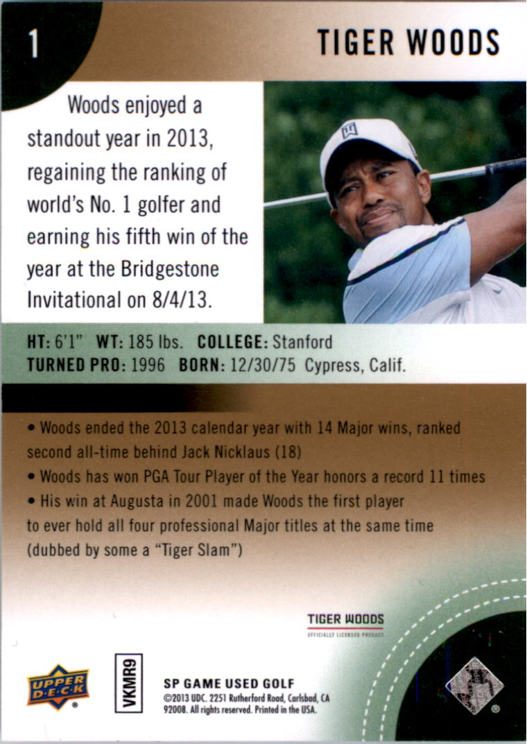 2014 SP Game Used #1 Tiger Woods