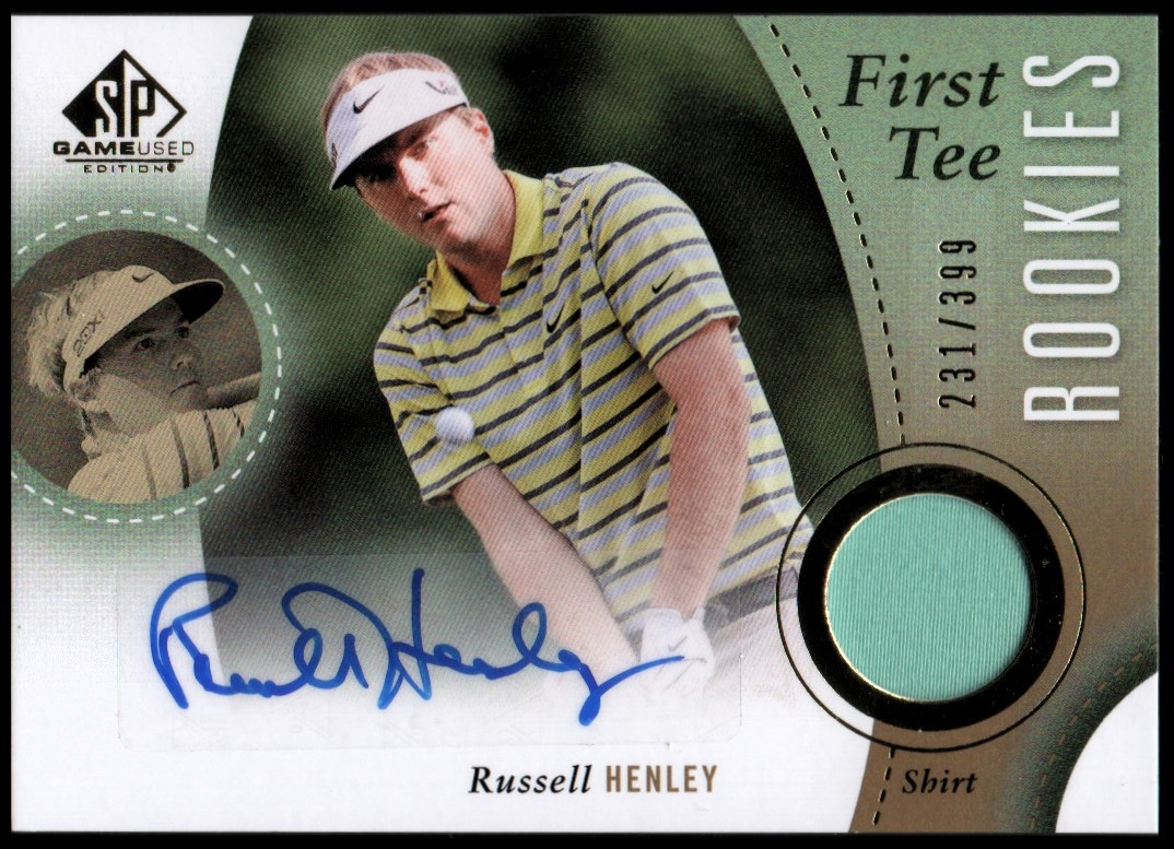2014 SP Game Used #38 Russell Henley Shirt AU/399 RC