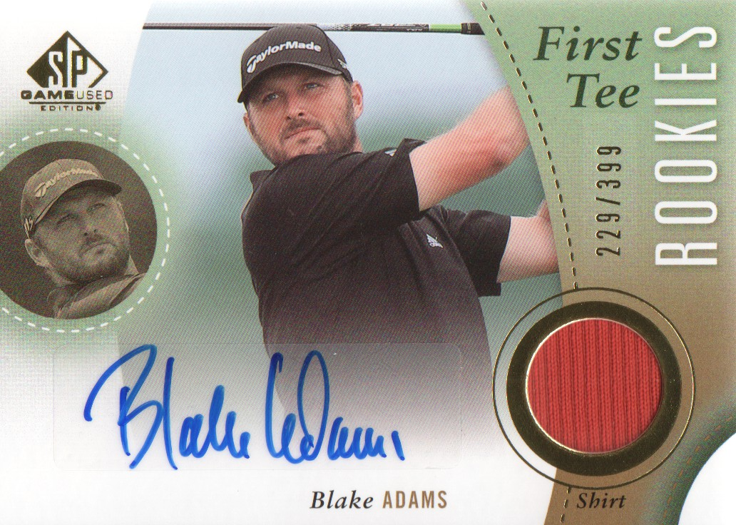 2014 SP Game Used #41 Blake Adams Shirt AU/399 RC