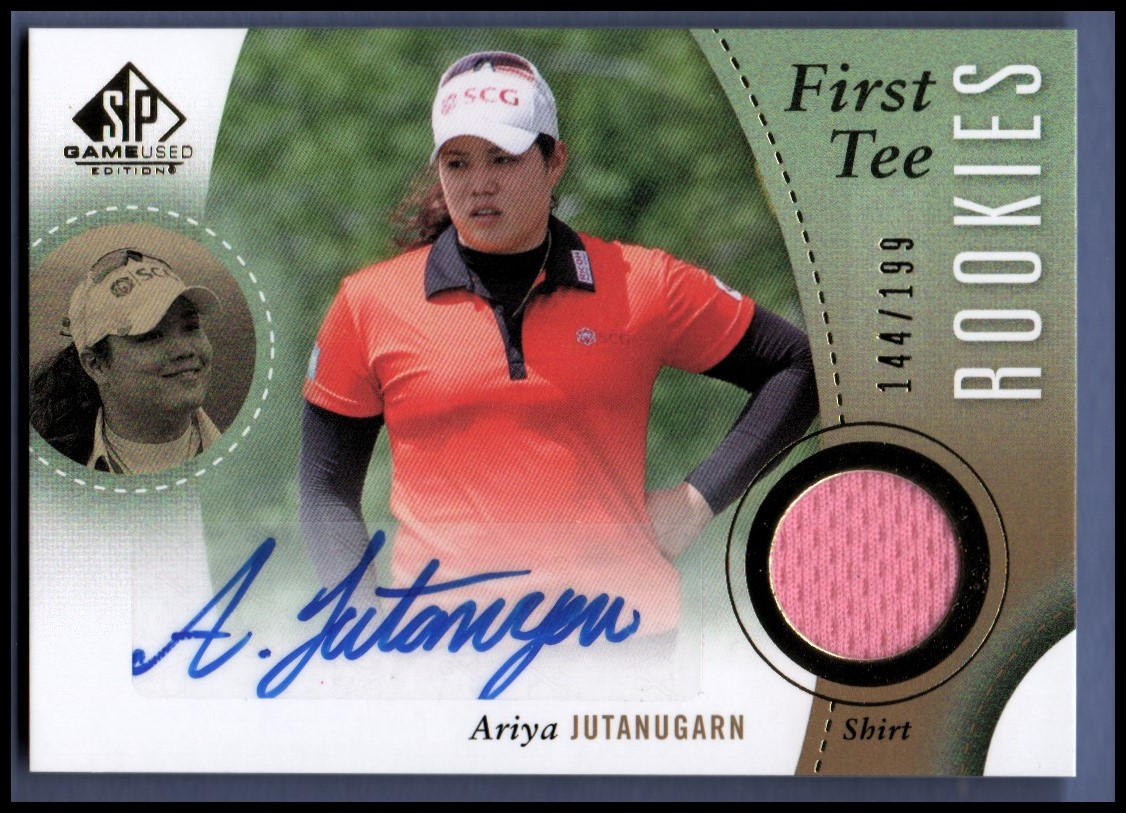 2014 SP Game Used #58 Ariya Jutanugarn Shirt AU/199 RC