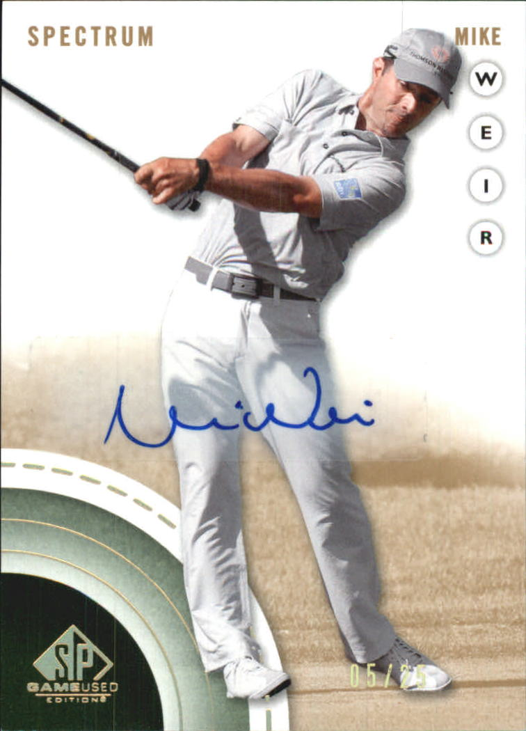 2014 SP Game Used Spectrum Autographs #18 Mike Weir/25