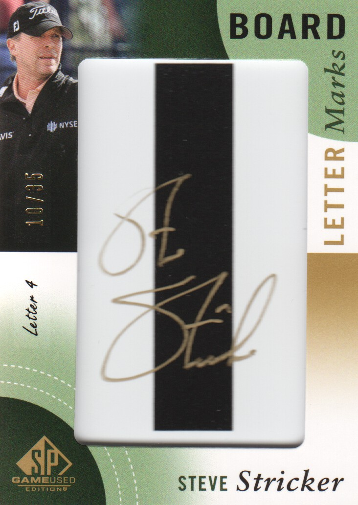 2014 SP Game Used Leader Board Letter Marks #LLSS4 Steve Stricker I/35