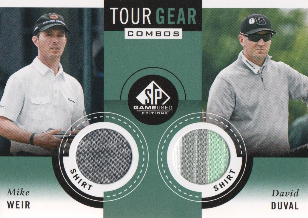 2014 SP Game Used Tour Gear Dual #TG2WD Mike Weir/David Duval C