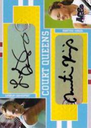 2005 Ace Authentic Signature Series Court Queens Dual Autograph #CQ12 Lindsay Davenport/Martina Hingis