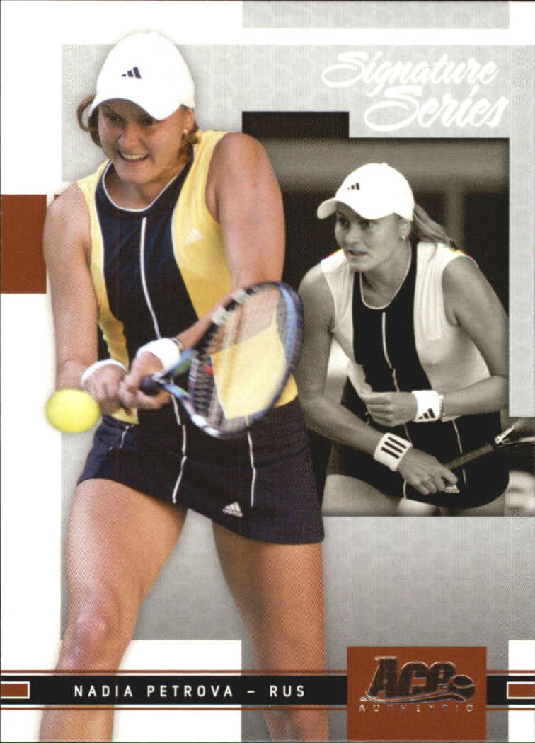 2005 Ace Authentic Signature Series #12 Nadia Petrova RC