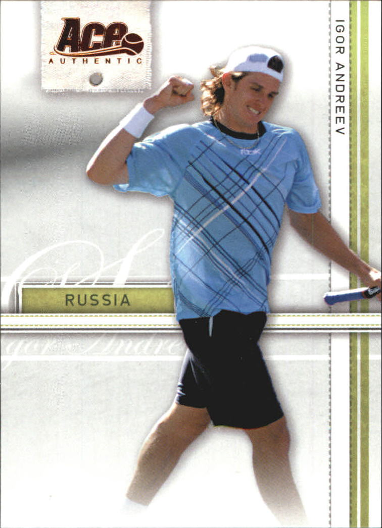 2007 Ace Authentic Straight Sets Bronze #17 Igor Andreev