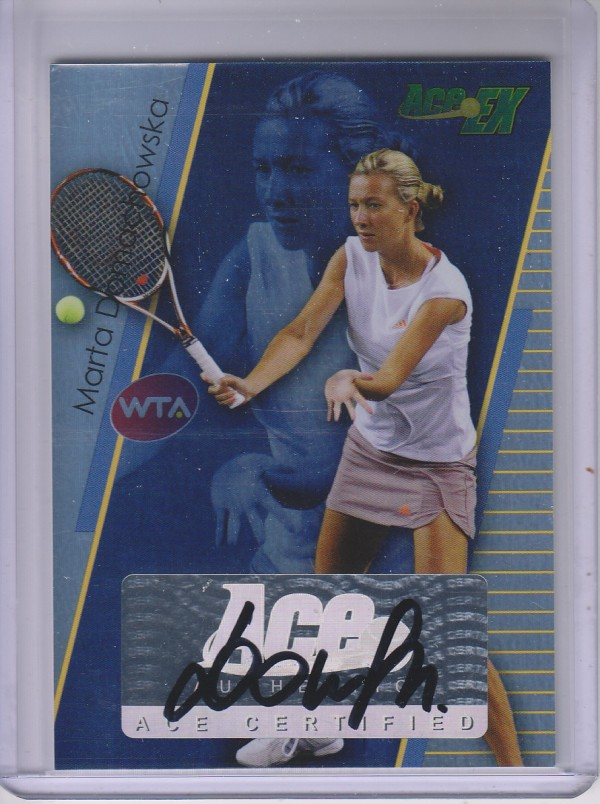 2011 Ace Authentic EX #21 Marta Domachowska