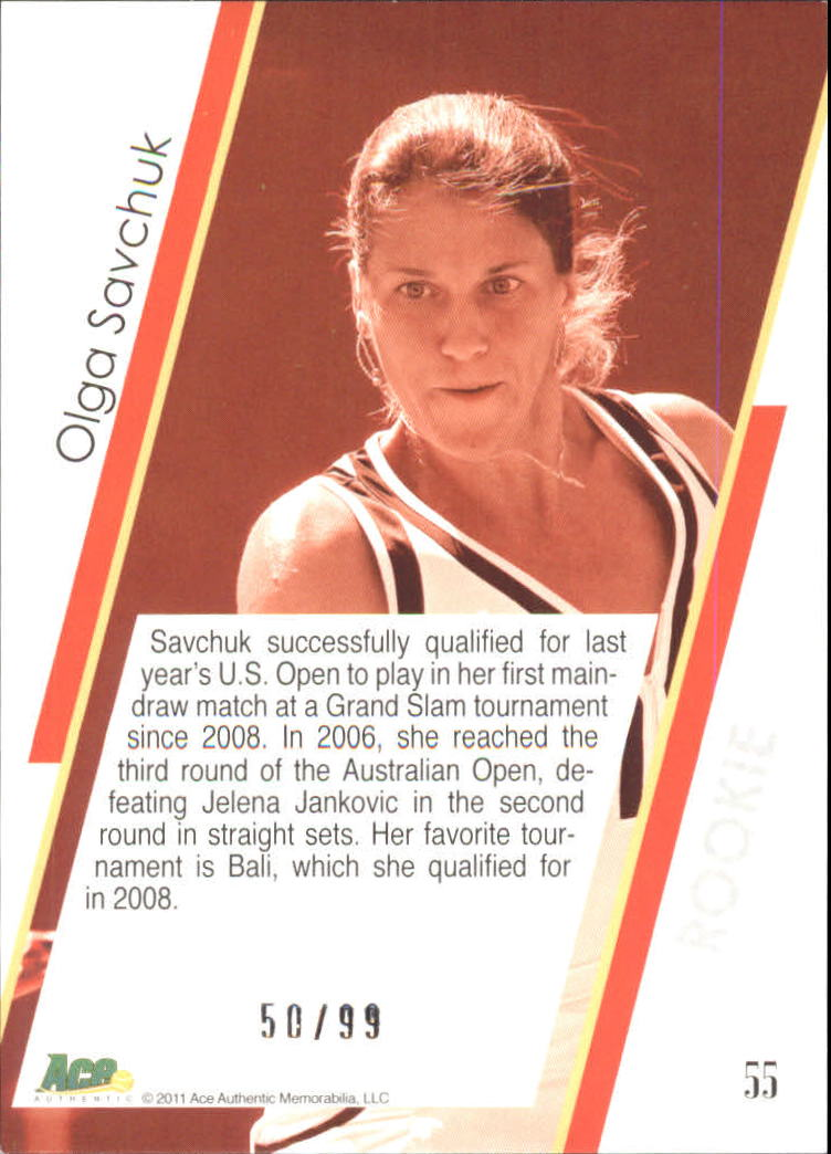 2011 Ace Authentic EX #55 Olga Savchuk