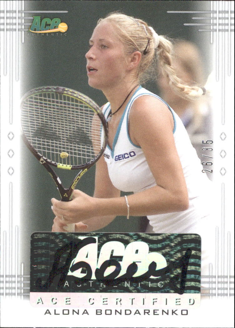 2013 Ace Authentic #BAAB2 Alona Bondarenko